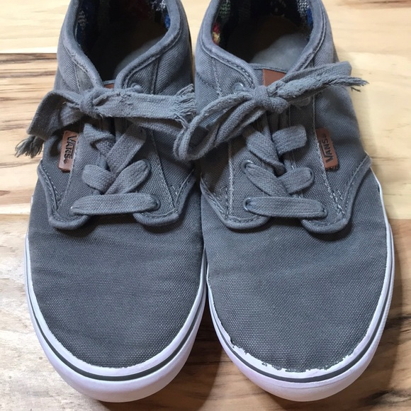 amazing price sneakers for cheap wholesale online Gray Vans youth size 6.5